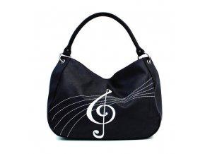kabelka s houslovým klíčem