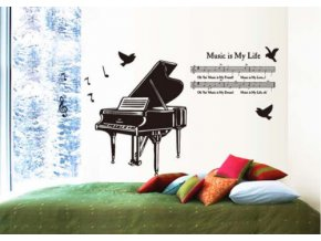 Samolepka na zeď - klavír