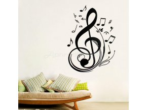 Samolepka na zeď - houslový klíč