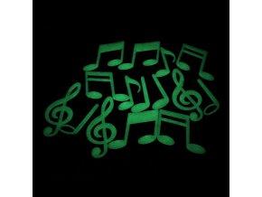 Svítící noty a houslové klíče