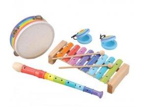 sada dětských hudebních nástrojů barevná 5 dílů