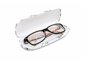 pouzdro na brýle partitura, bílé