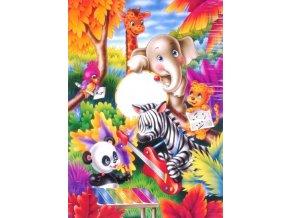dětské puzzle, zvířecí kapela