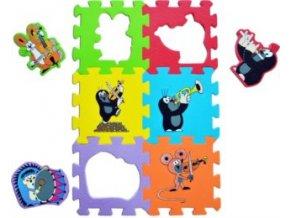 pěnové puzzle krtek hudební nástroje
