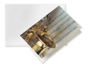 přání do obálky saxofon