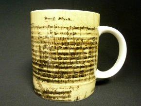 klasický hrnek partitura mozart