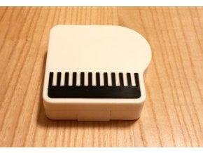 Pouzdro na kontaktní čočky klavír - bílé