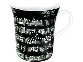 Hrnek s partiturou Vivaldi - velký černý
