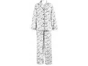 Flanelové pyžamo s notami