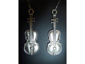 náušnice housle velké