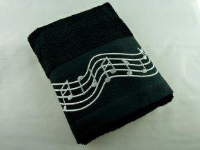 ručník partitura, hudební froté