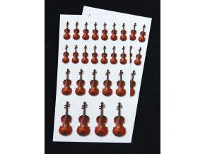 samolepky housle, hudební nástroj