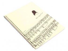 notový sešit Beethoven