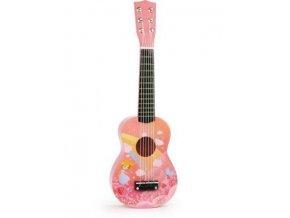 kytara víla růžová