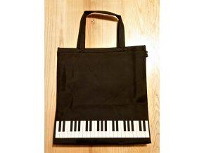 Nylonová taška KLAVIATURA - černá