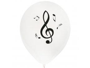 nafukovací balónek hudba bílý