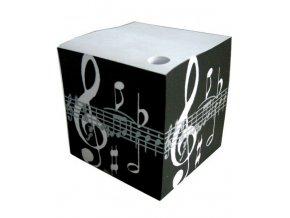 telefonní bloček houslový klíč a partitura