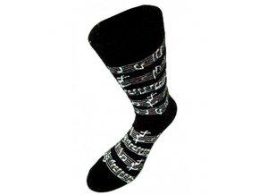 pánské ponožky partitura černá