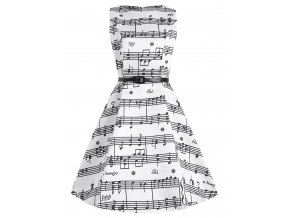 Saténové bílé šaty PARTITURA