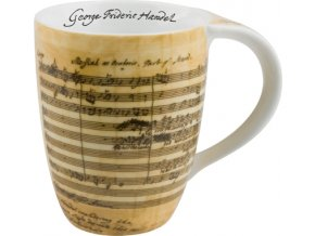 Hrnek s partiturou Händel