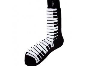 Ponožky s klaviaturou pánské - černé