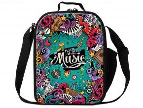 taška přes rameno music turquoise
