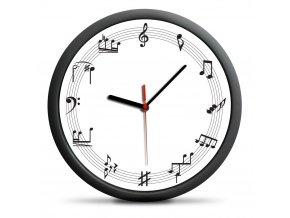 hodiny hudba, nota, houslový klíč, basový klíč