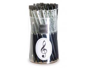 Kuličkové pero se vznášejícím se houslovým klíčem černé