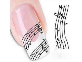 Samolepky na nehty - partitura