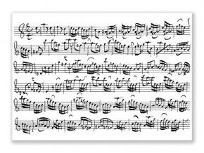 Pohlednice PARTITURA Bach bílá