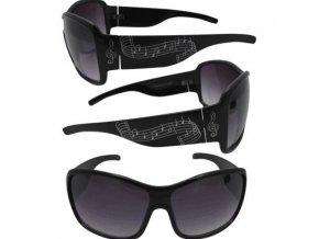 Sluneční brýle černé se stříbrnými notami
