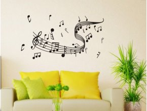 Samolepka na zeď - partitura a noty
