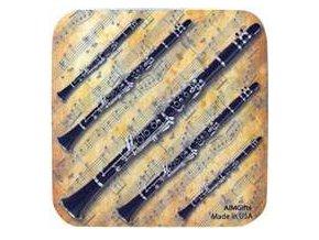 podtácek s klarinetem
