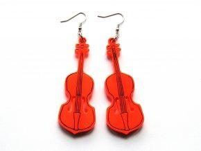 Náušnice cello - oranžové