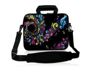 Obal na notebook s hudební spirálou