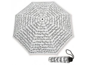 Deštník PARTITURA BACH bílý, skládací
