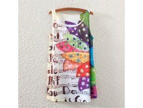 Tričko s partiturou a barevným květem