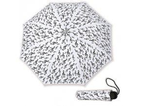 Deštník HOUSLOVÝ KLÍČ bílý, skládací