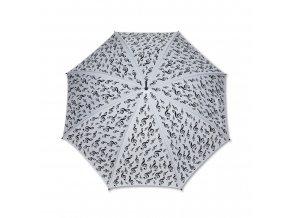 Deštník HOUSLOVÝ KLÍČ bílý, dlouhý