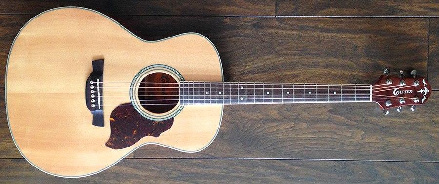 CRAFTER CT125C/N hybridní kytara, nylonové struny, obal zdarma !