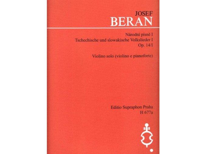 Beran - Národní písně op. 14/I
