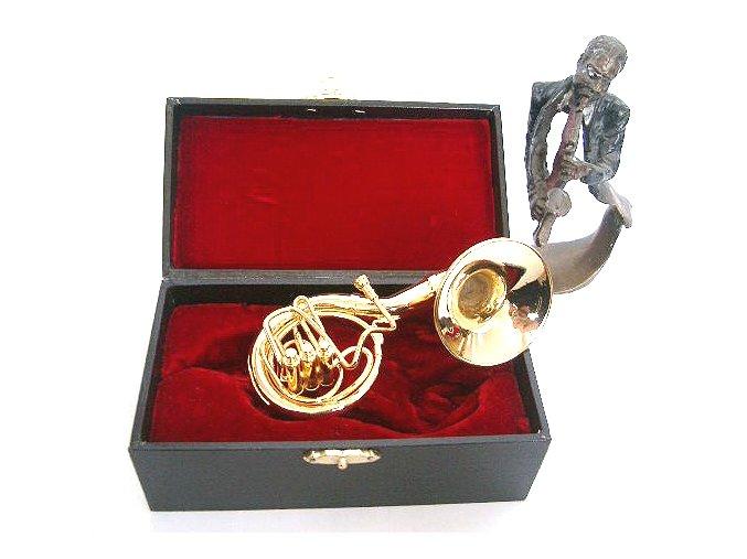 3400003 dárek pro muzikanta miniatura susaphone v kufříku