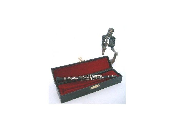 3400005 dárek pro muzikanta miniatura klarinet v kufříku