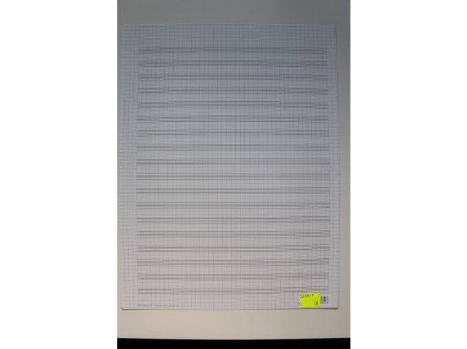 Notový papír 247,5 x 330 mm, 18 osnov, dvojlist