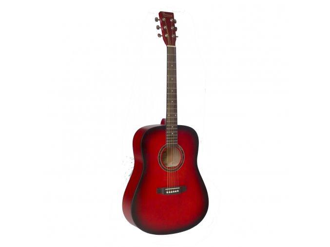 DG80/RDS westernová kytara - red sunburst