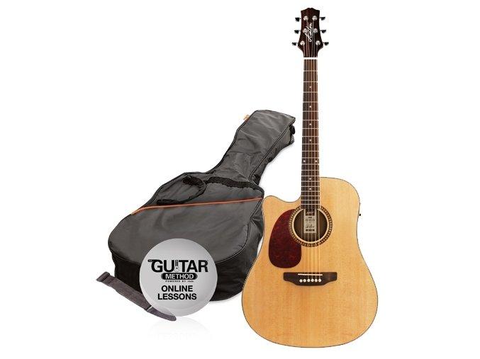 2500544 elektroakusticka kytara levoruka ashton d25ceq l ntm zdarma obal struny
