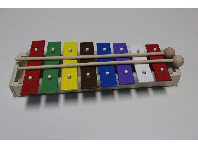 Zvonkohra ZS GW 8 sopránová + paličky + barevné noty