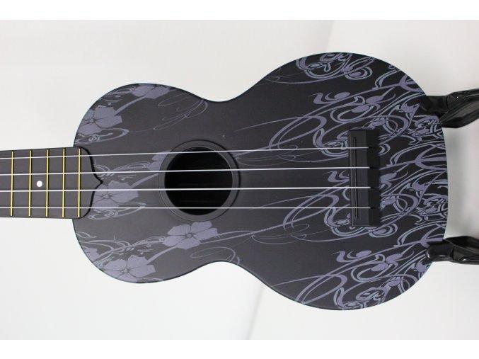 Audiana květinové sopránové ukulele BK
