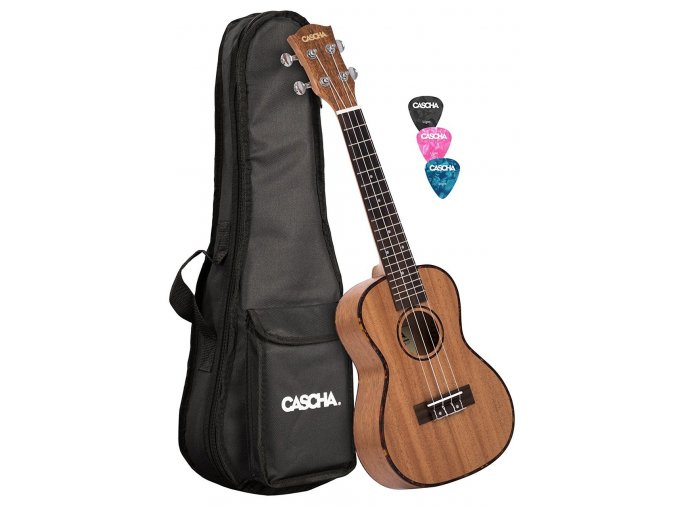CASCHA hh 2035 ukulele koncertní + obal+trsátka