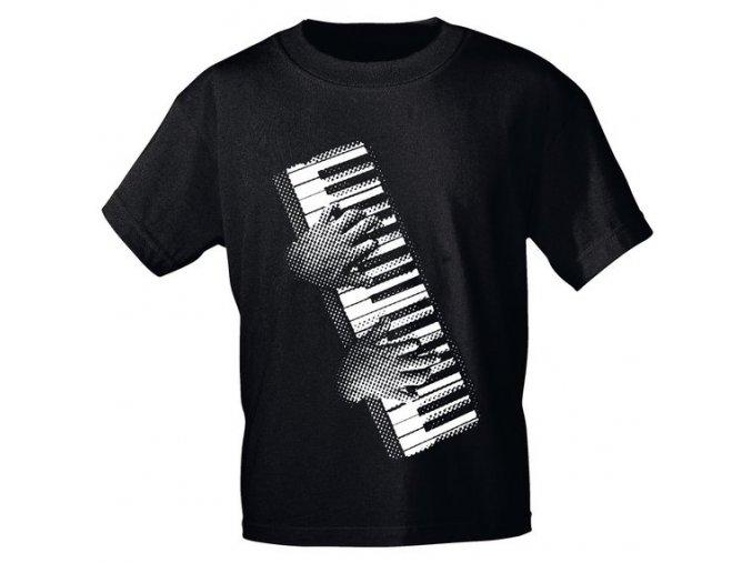 3400085 hudebni tricko s motivem klávesového hráče klávesy klavír keyboard
